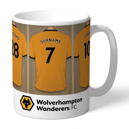 Personalised Wolves FC Dressing Room Mug